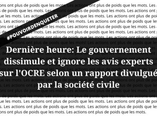 Communiqué: Le gouvernement du Canada cède aux pressions de l'industrie — l'Ombudsman de la responsabilité des entreprises demeure impuissant à défendre les droits de la personne