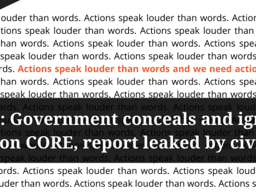 Government conceals and ignores expert advice on CORE, report leaked by civil society